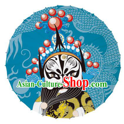 Chinese Traditional Artware Red Paper Umbrellas Printing Beijing Opera Oil-paper Umbrella Handmade Umbrella