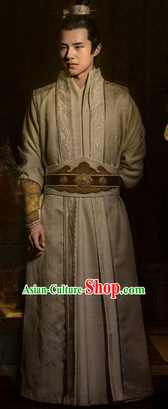 Nirvana in Fire Chinese Ancient Young Hero Swordsman General Xiao Pingjing Replica Costume for Men