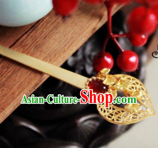 Chinese Handmade Classical Hair Accessories Hairpin Hair Stick Hanfu Agate Hairpins for Women