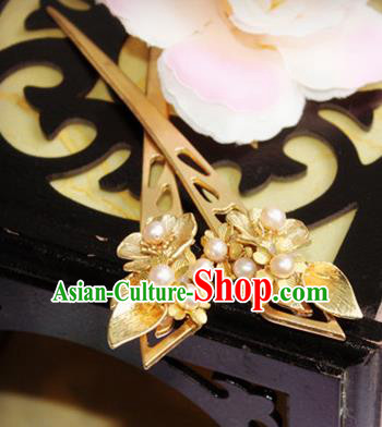 Chinese Handmade Classical Hair Accessories Hairpin Hair Stick Hanfu Pearls Hairpins for Women