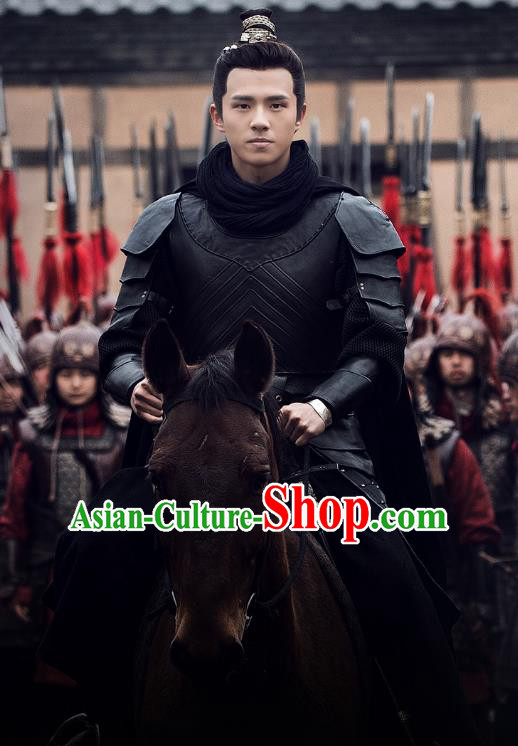 Nirvana in Fire Chinese Ancient Young General Replica Costume Knight-errant Helmet and Armour for Men