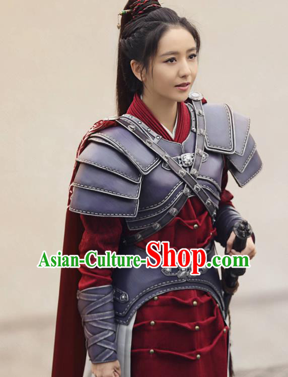 Chinese Ancient Nirvana in Fire Female General Meng Qianxue Replica Costume Helmet and Armour for Women