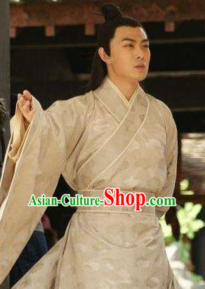 Chinese Ancient Tang Dynasty Prince Li Xian Embroidered Replica Costume for Men