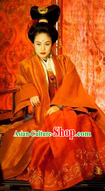 Ancient Chinese Tang Dynasty Princess Jiacheng Hanfu Dress Embroidered Replica Costume for Women