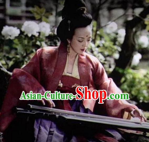 Chinese Ancient Tang Dynasty Princess Jiacheng Hanfu Dress Embroidered Replica Costume for Women