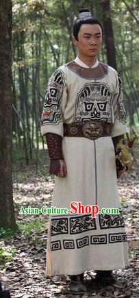 Chinese Ancient Tang Dynasty Swordsman Di Guangyuan Replica Costume for Men