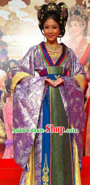 Chinese Ancient Tang Dynasty Princess Yongmu Dress Embroidered Replica Costume for Women