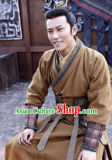 Chinese Ancient Tang Dynasty Nobility Childe Prince Li Shimin Replica Costume for Men