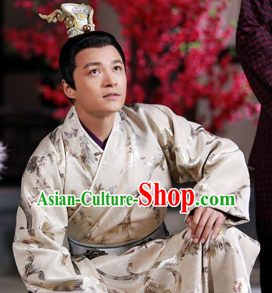Chinese Ancient Tang Dynasty Prince Qin Li Shimin Replica Costume for Men