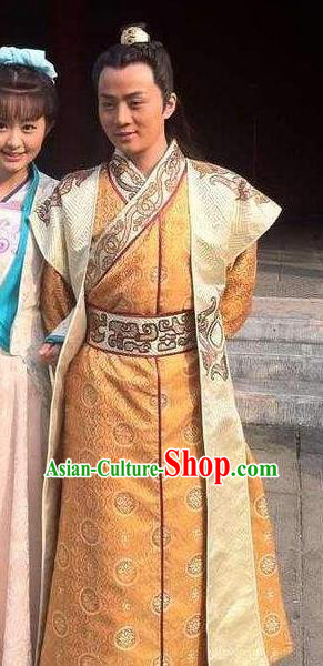 Chinese Ancient Tang Dynasty General Xue Gang Replica Costume for Men
