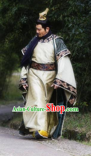 Chinese Ancient Sui Dynasty Emperor Yang Guang Replica Costume for Men