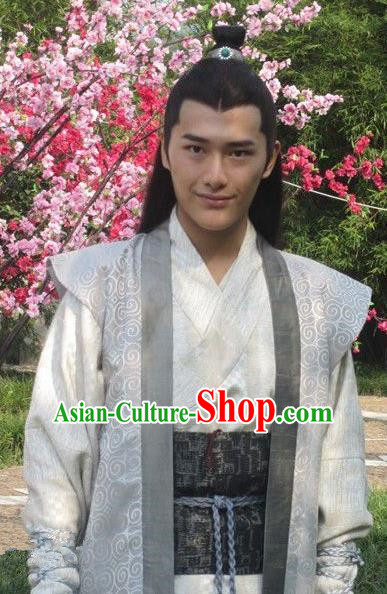 Chinese Ancient Tang Dynasty Nobility Childe Xue Shao Replica Costume for Men