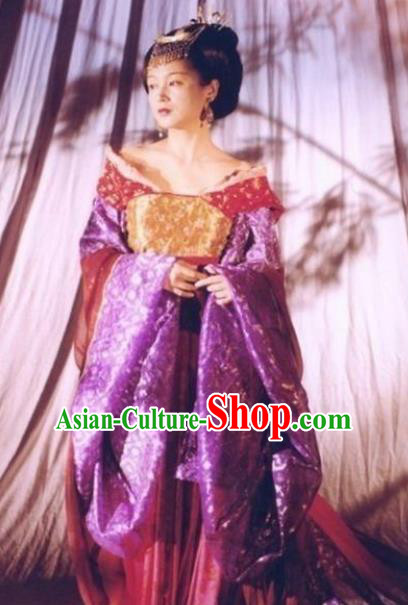 Traditional Chinese Ancient Tang Dynasty Princess Taiping Embroidered Replica Costume for Women