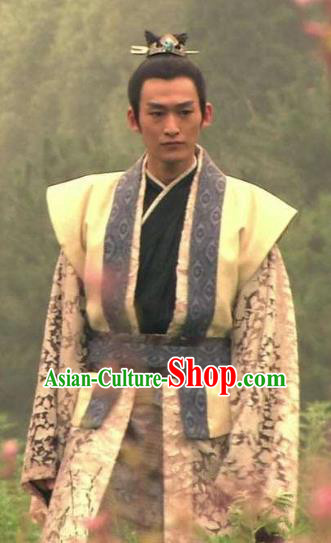 Chinese Ancient Nobility Childe Tang Dynasty Swordsman Replica Costume for Men