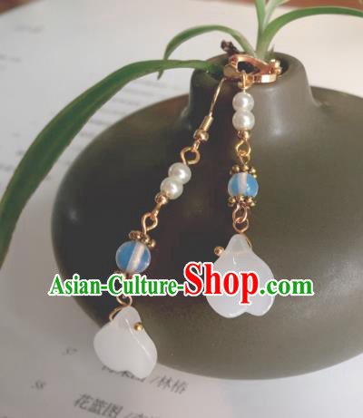 Traditional Chinese Ancient Jewelry Accessories Jade Beads Earrings Eardrop for Women