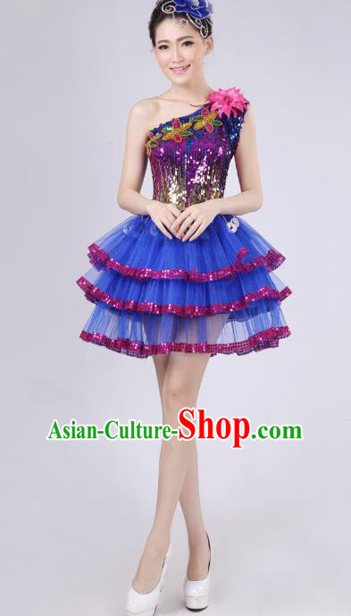 Chinese Classic Stage Performance Costume Modern Dance Bubble Dress for Women