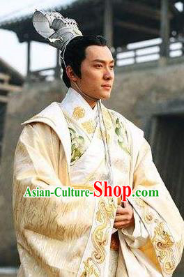 Traditional Chinese Ancient Prince Costume Tang Dynasty Emperor Li Hong Replica Costume for Men
