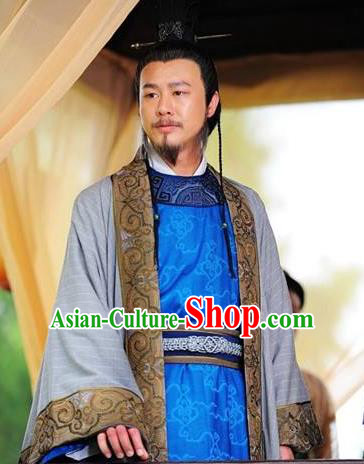 Chinese Ancient Tang Dynasty Swordsman Consort Clan Yang Guozhong Replica Costume for Men