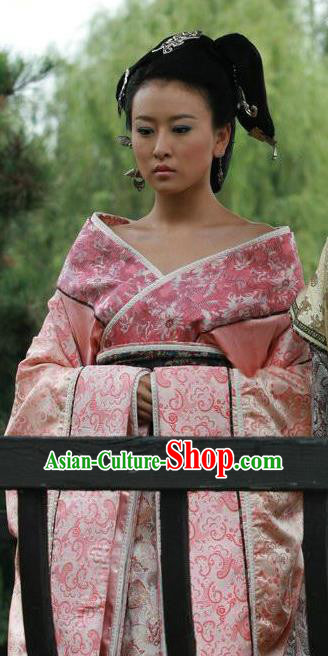 Traditional Chinese Han Dynasty Princess Luyuan Hanfu Dress Ancient Palace Lady Replica Costume for Women