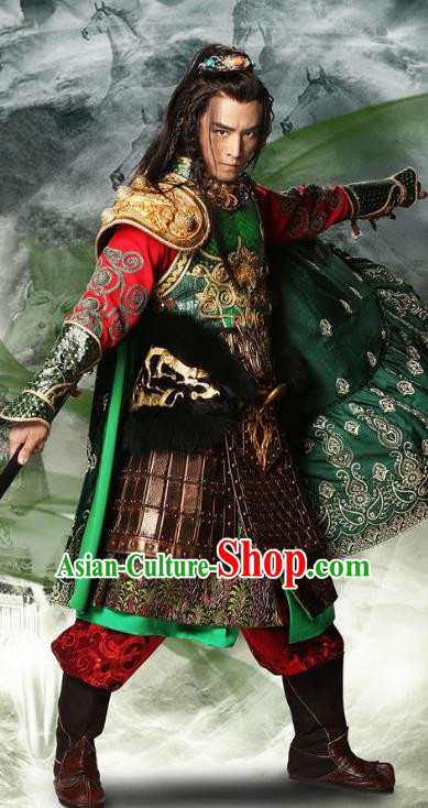 Chinese Ancient Three Kingdoms Period Shu Kingdom Swordsman General Ma Chao Replica Costume for Men