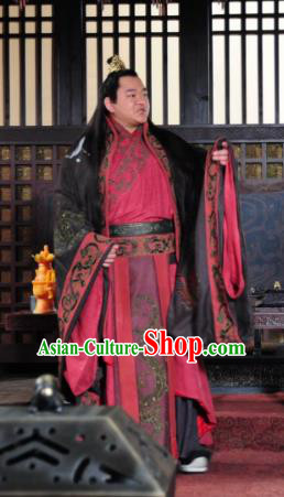 Chinese Ancient Three Kingdoms Period Shu Kingdom Emperor Liu Chan Replica Costume for Men