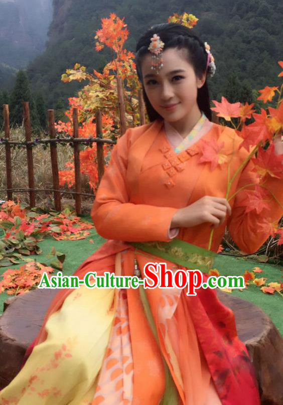 Chinese Ancient Three Kingdoms Dynasty Palace Lady Hanfu Dress Replica Costume for Women