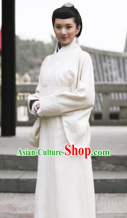 Chinese Ancient Qin Dynasty Princess Ying Yue Hanfu Dress Replica Costume for Women