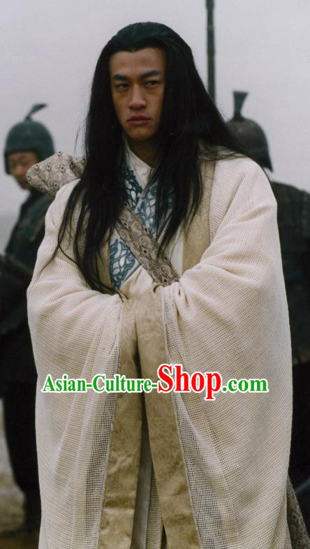Chinese Ancient Warring States Time Assassin Musician Gao Jianli Replica Costume for Men