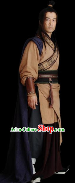 Chinese Ancient Qin Dynasty Swordsman Chu King Xiang Yu Replica Costume for Men