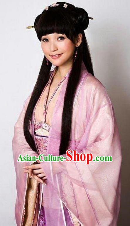Chinese Ancient Qin Dynasty Nobility Lady Princess Hanfu Dress Replica Costume for Women