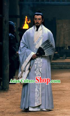 Chinese Ancient Three Kingdoms Period Shu Kingdom Prime Minister Zhuge Liang Replica Costume for Men