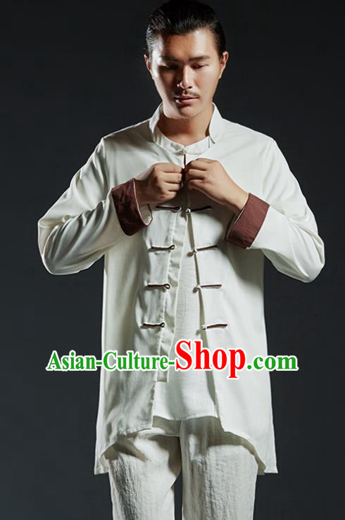 Chinese Kung Fu Martial Arts Gongfu Costume Tang Suit Jacket Wushu Tai Chi Clothing for Men