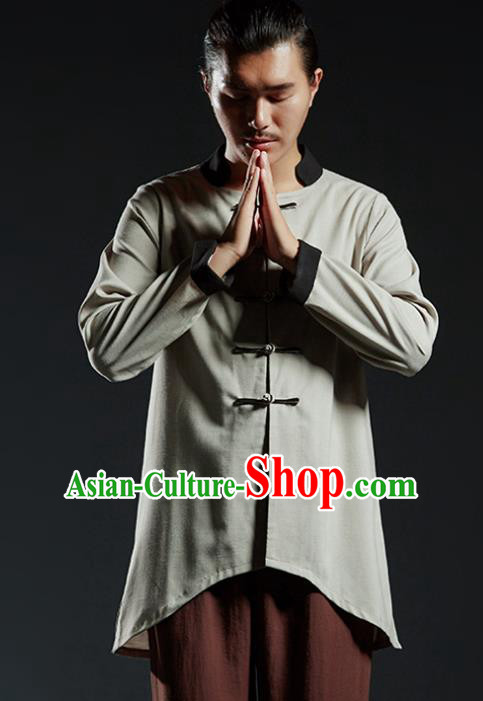 Chinese Kung Fu Martial Arts Jacket Gongfu Costume Tang Suit Wushu Tai Chi Clothing for Men