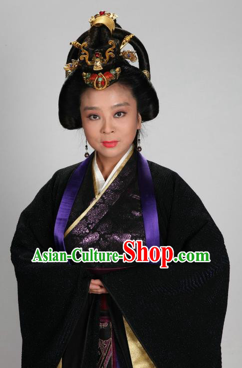 Traditional Chinese Ancient Warring States Period Kingdom Qin Imperial Concubine Embroidered Replica Costume for Women