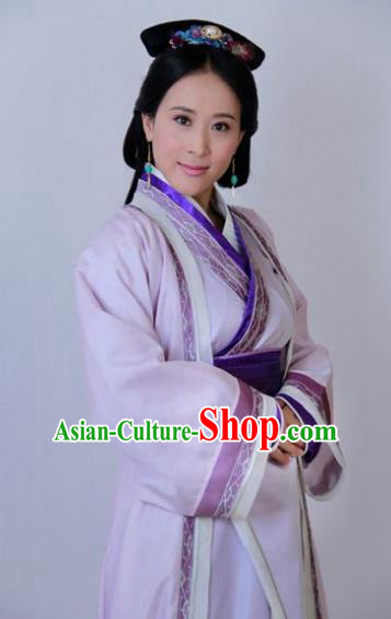 Traditional Chinese Ancient Qin Kingdom Hanfu Court Maid Embroidered Replica Costume for Women