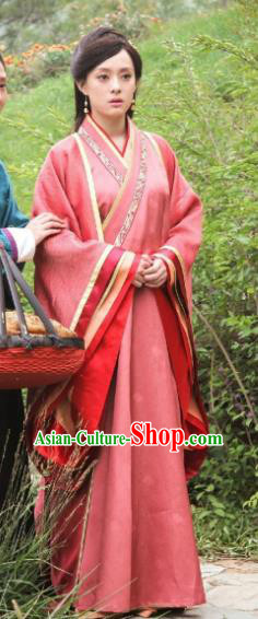 Traditional Chinese Ancient Chu Kingdom Princess Mi Yue Hanfu Dress Embroidered Replica Costume for Women