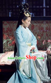 Chinese Ancient Chu Kingdom Princess Mi Shu Hanfu Dress Embroidered Replica Costume for Women