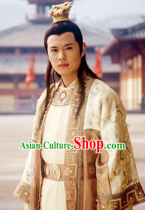Traditional Chinese Ancient Chunqiu Period Jin State Crown Prince Shen Sheng Replica Costume for Men