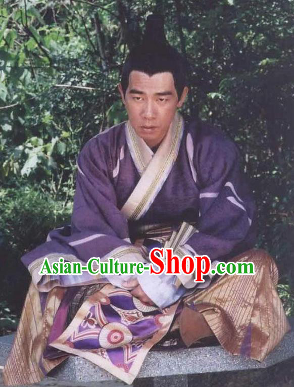 Ancient Chinese Tang Dynasty Emperor Replica Costume for Men