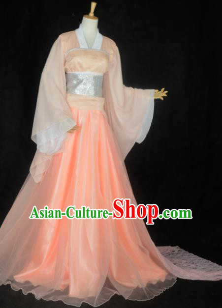 Chinese Ancient Fairy Young Lady Costume Cosplay Female Swordsman Dress Hanfu Clothing for Women