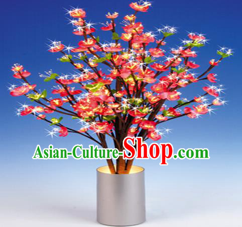 Traditional Handmade Chinese Peach Blossom Lanterns Electric LED Lights Lamps Desk Lamp Decoration