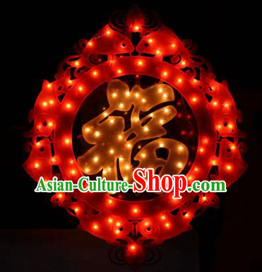 Traditional Handmade Chinese Knots Lanterns Spring Festival Electric LED Lights Lamps Hanging Lamp Decoration