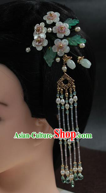 Traditional Chinese Ancient Tassel Step Shake Classical Hair Accessories Handmade Hairpins for Women