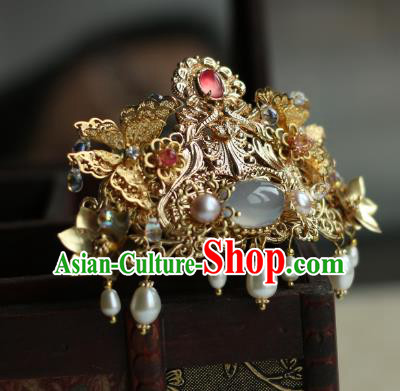 Traditional Chinese Ancient Phoenix Coronet Classical Hair Accessories Handmade Hairpins for Women