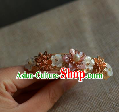 Traditional Chinese Ancient Shell Flowers Hair Stick Classical Hair Accessories Handmade Hairpins for Women