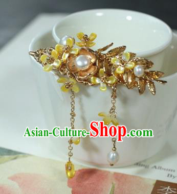 Traditional Chinese Ancient Flowers Hair Claws Classical Hair Accessories Handmade Hairpins for Women