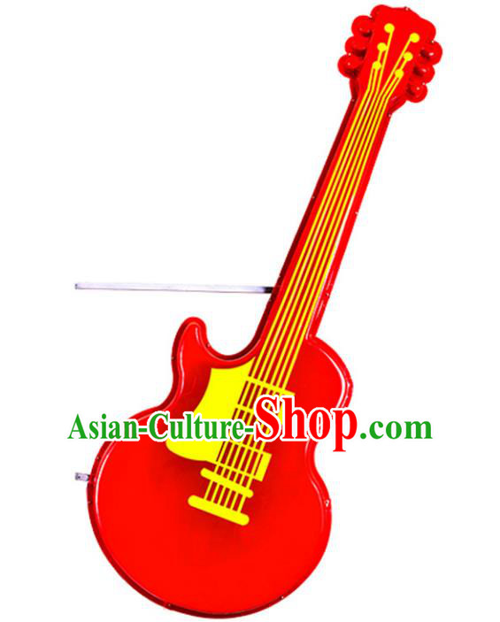 Traditional Handmade Chinese Guitar Lanterns Spring Festival Electric LED Lights Street Light Lamp Decoration