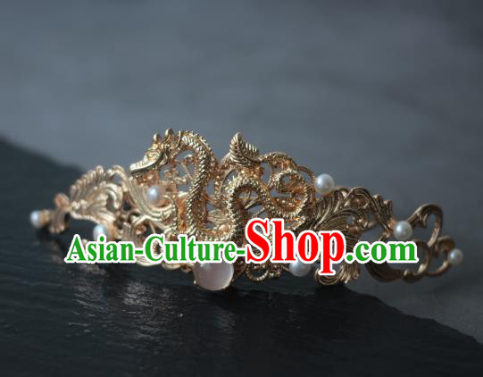 Traditional Chinese Ancient Handmade Dragon Hairdo Crown Hair Stick Classical Hair Accessories Hairpins for Women