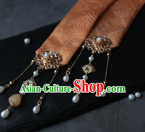 Traditional Chinese Ancient Hair Clasp Hair Accessories Handmade Hanfu Headband Hairpins for Women