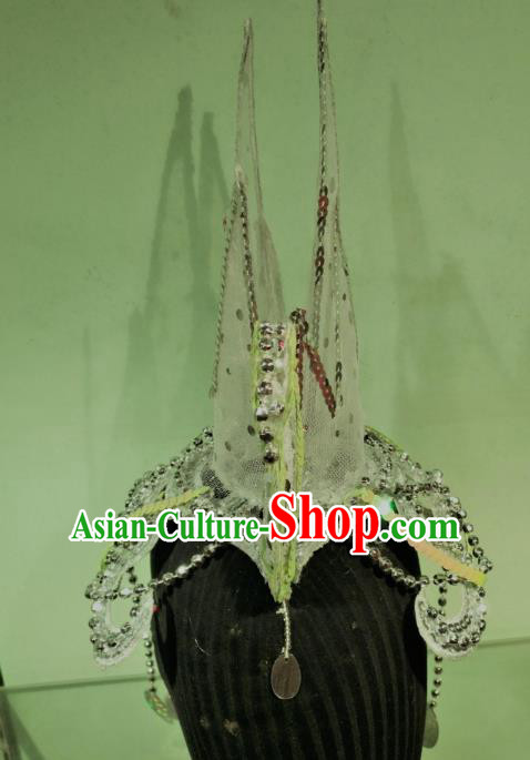 Chinese Classical Dance Stage Performance Hair Accessories Traditional Folk Dance Drum Dance Hats Headwear for Women